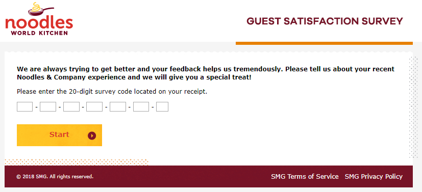 feedback.noodles.com survey